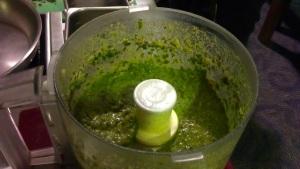 Beautifully green, luscious pesto!