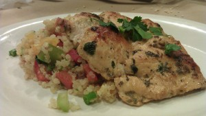 Pan-Seared Chicken Breast with Quinoa Pilaf!!!