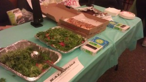 "The ""Gluten"" Table: Kale Salad, pizza from Tivoli's Cafe and ""Gluten-Free"" Vegan Brownies"