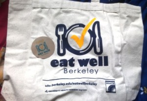 Neat Eat Well tote bags that SDA got from Jackie